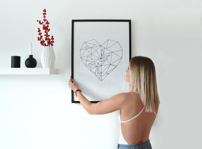 Heart | Herzposter | Grafikposter