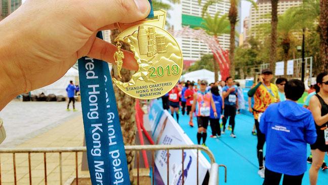 香港マラソン2019メダル
