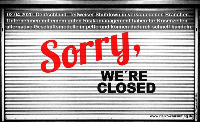 Corona - Risikomanagement ist der beste Schutz gegen den Shutdown
