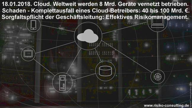 Ausfall Cloud-Betreiber - Risikomanagement schuetzt