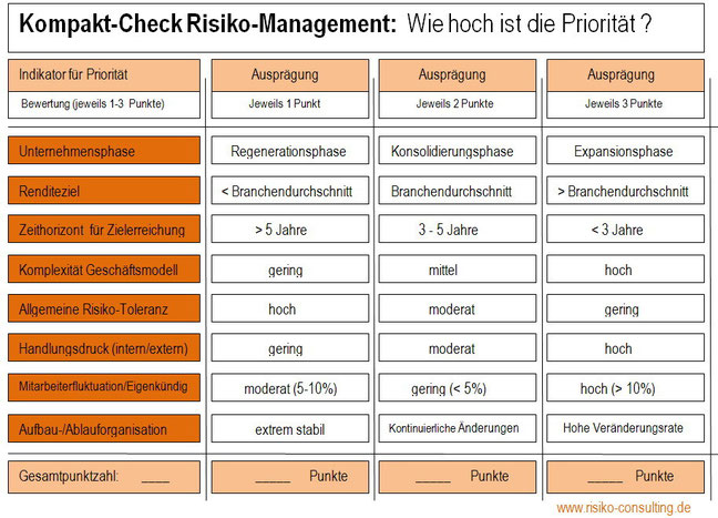 Risiko-Consulting: Kompakt-Check Risiko-Management