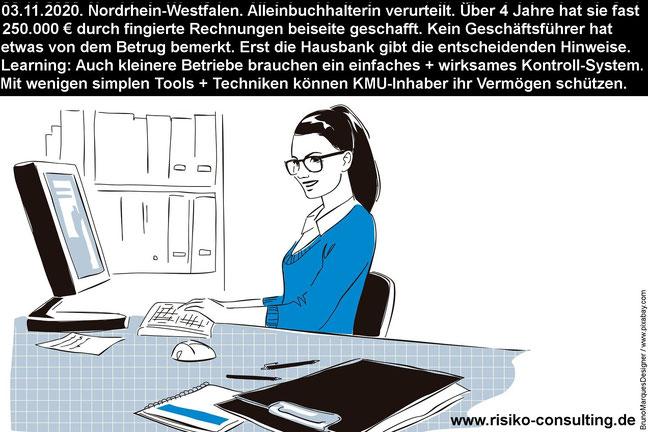 Geschäftsführer haben Sorgfaltspflichten. Dazu gehört auch ein Internes Kontrollsystem.