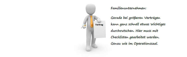 Familienunternehmen: Checklisten für Verträge