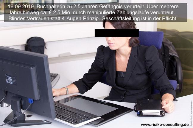 Ein internes Kontrollsystem verhindert Veruntreuung und Betrug.