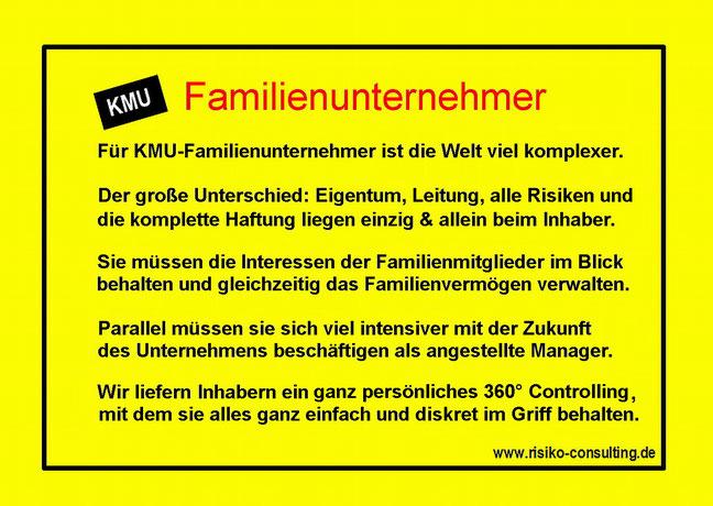 Persönliches Kontrollsystem für Familienunternehmer