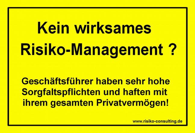 Risiko-Consulting: Geschäftsführer haften mit ihrem Privatvermögen