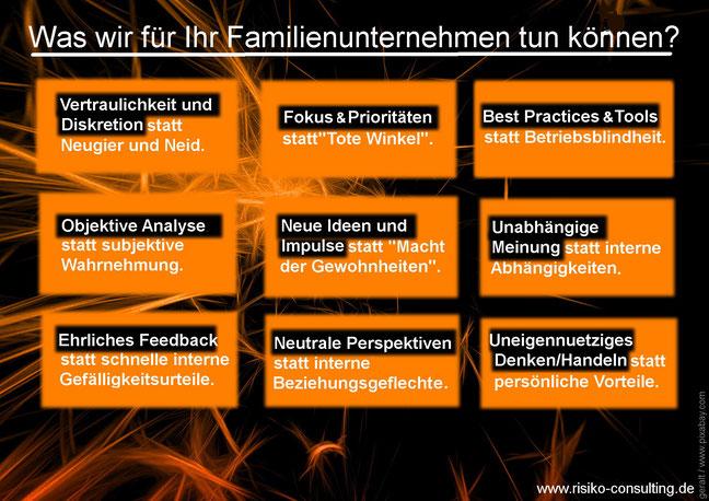 Risiko-Consulting: Leistungen für Familienunternehmen
