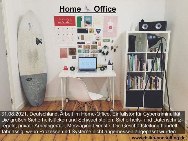 Home-Office. Das Einfallstor für Cyberkriminalität.