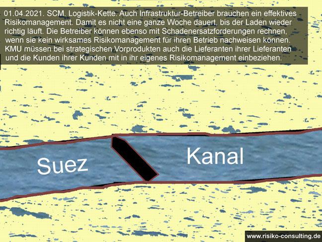 Suez Kanal gesperrt - Risikomanagement für Infrastruktur-Betreiber