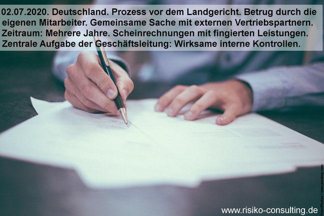 Betrug: Das Interne Kontrollsystem schützt vor fingierten Rechnungen.