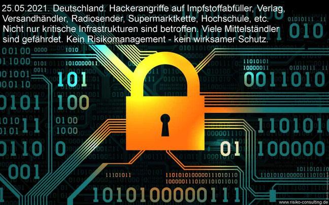 Hackerangriffe: Nur Risikomanagement bietet systematischen Schutz.