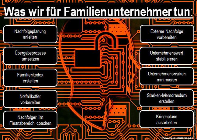 Risiko-Consulting: Leistungen für moderne Familienunternehmen und KMU-Inhaber