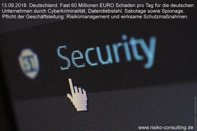 Cyberkriminalität und Dtendiebstahl. Der wirksamste Schutz: Effektives Risikomanagement.