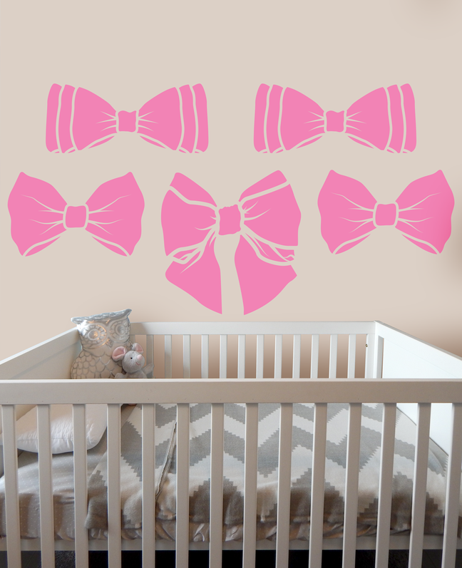 Eliza Ribbon Bow vinyl wall art sticker