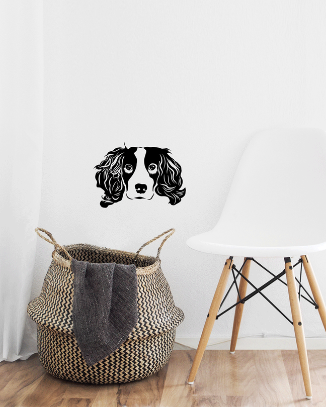 Springer Spaniel wall art sticker cut dog.