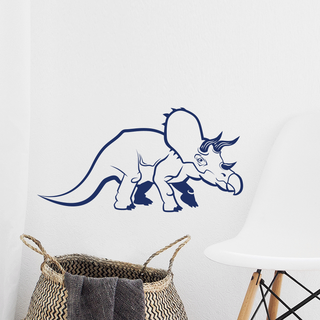 Dinosaur 'Tricey' Triceratops in a hand drawn style wall art sticker