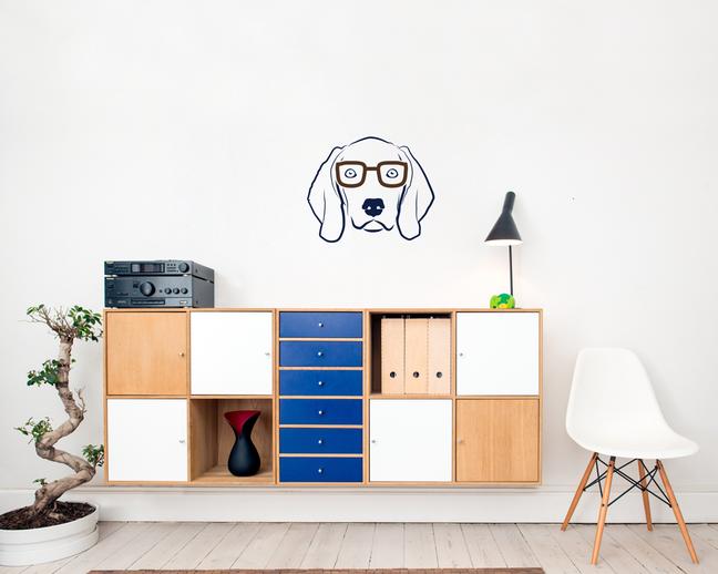 Weimaraner wall art sticker home decorating dog vinyl