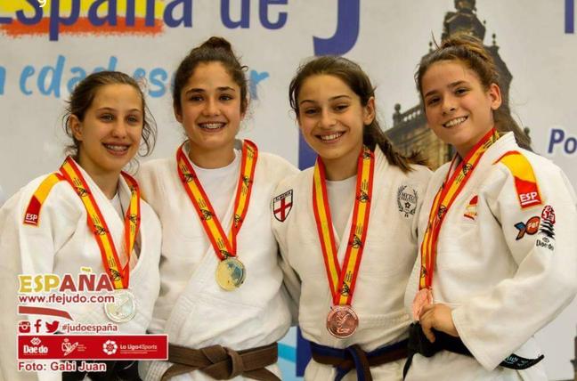 Eider Barandiaran En el Podium. Foto: Federación Española de Judo (Gabi Juan)