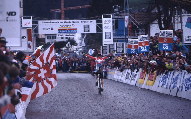 Dieter Runkel sorgte 1995 für den letzten Schweizer Elite-WM-Titel ©EKZ Crosstour