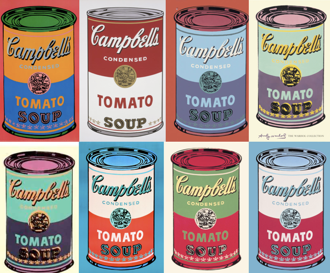 Pop-art, Andy Warhol y sus obras