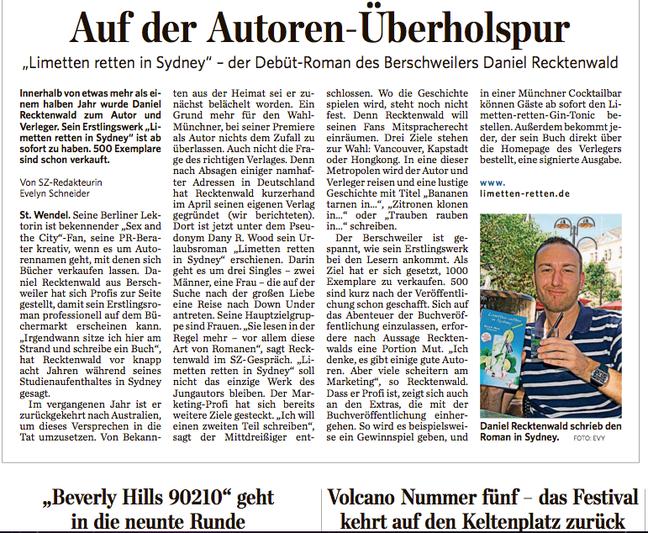 Saarbrücker Zeitung am 10.7.2013