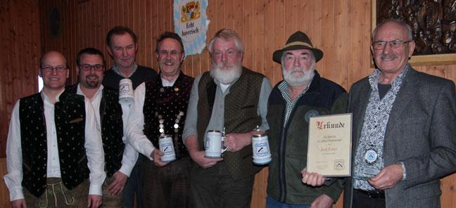 von links nach rechts: Gerhard Beck, Patrick Schmid, Peter Hillmayr, Robert Butz, Alois Maier, Martin Oswald, Josef Axtner