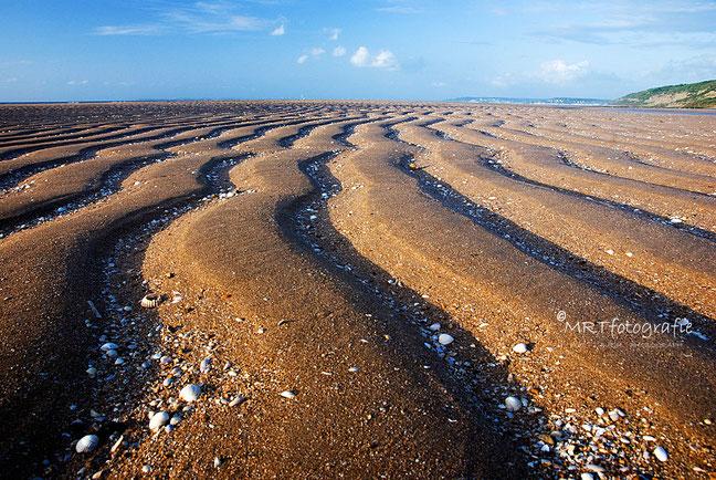 Diepte in je foto. Lijnen strand Houlgate, Normandie | Compositie