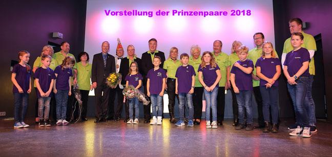 Vorstellung der Prinzenpaare der Karnevalshochburg Höhr-Grenzhausen für die Session 2018