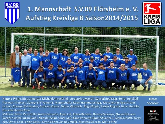 Wie eine Familie zusammengewachsen: das Team des SV Flörsheim, Aufsteiger in die Kreisliga B.