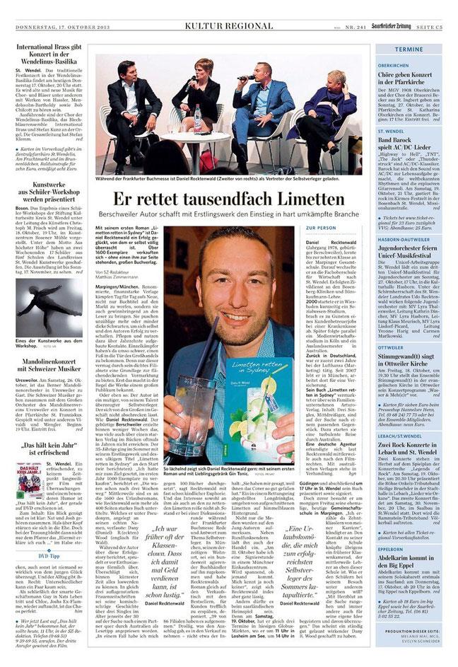 Saarbrücker Zeitung 17.10.2013