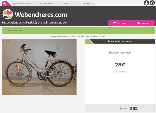 les sites de vente aux enchères pour acheter un vélo d'occasion