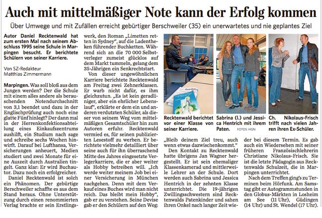 Saarbrücker Zeitung 19.10.2013