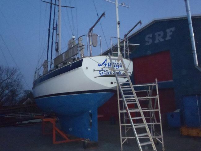 Neuer Schiffsname und Heimathafen