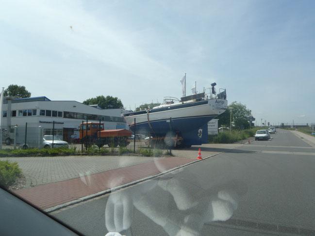 Ankunft auf der Werft
