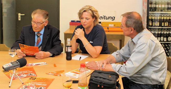 PK mit Bürgermeister Krätschmer, Projektleiterin Metzler und Messeleiter Wilfried Wilhelm v.l.n.r. © rheinmainbild.de