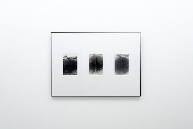 波動 A, 地・生肉,  モノクロ写真3点組,  各 21.2x15.3cm. 1970