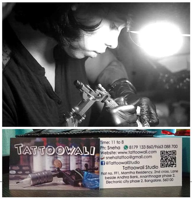 Student Sneha @ Tattoowali banglore