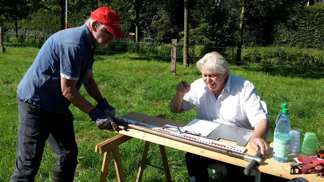 Eine akribische Dokumentation der Bodenproben und eine entsprechende Auswertung waren die Grundlagen zum Auffinden des Grabenverlaufs.