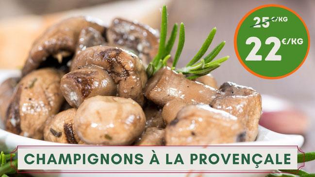 o delices de sandrine, epicerie fine bordeaux, champignons marinés, champignons à l'huile, champignons à la provençale