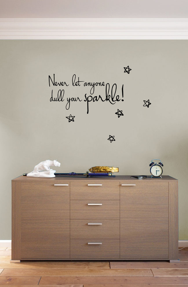 Never let Anyone Dull Your Sparkle Quote from www.wallartcompany.co.uk