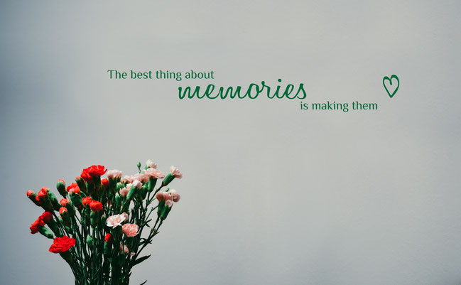 The Best Thing About Memories Is Making Them wall art sticker. From wallartcompany.co.uk
