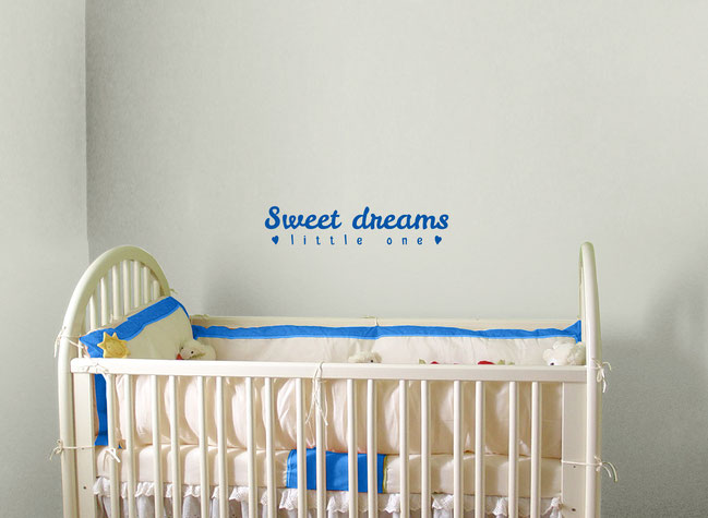 Sweet Dreams little one vinyl wall art sticker for a child's nursery.