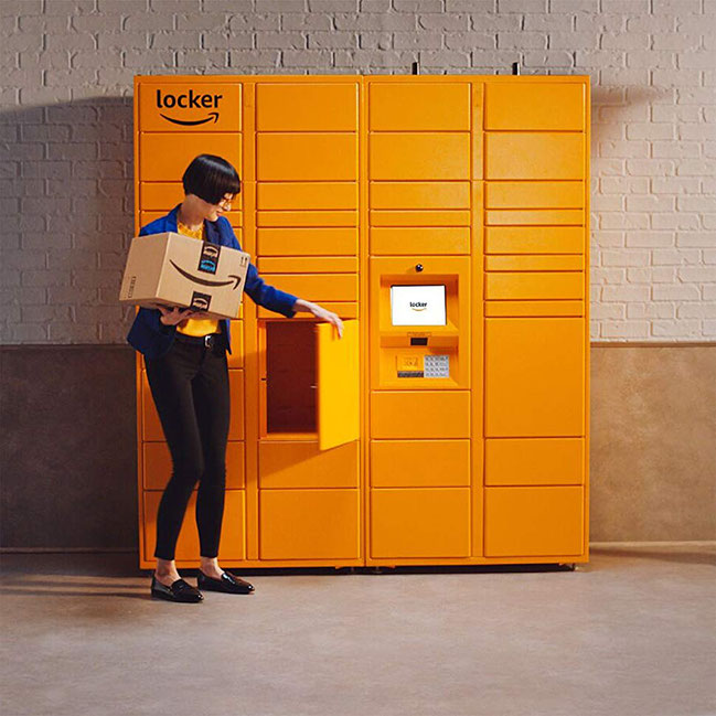 Amazon locker pickup kiosks