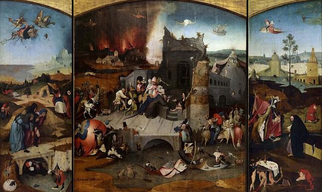 Самые известные работы Иеронима Босха - Искушение Святого Антония