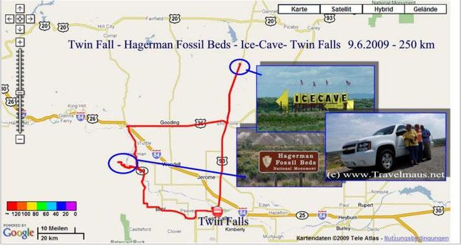 9.6.2009 Twin Falls - Twin Falls 250 km