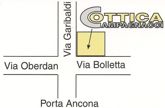 Pianta stradale di P.ta Ancona in Foligno.