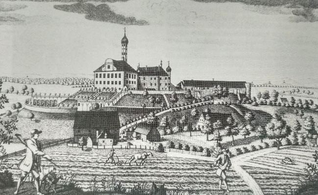 Schloss Wellenburg als Lustschloss, Illustration