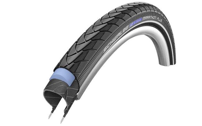 Schwalbe erweitert seine Palette an 27.5 Zoll-Reifen für Trekking- und E-Bikes – hier im Bild der Marathon Plus © Schwalbe