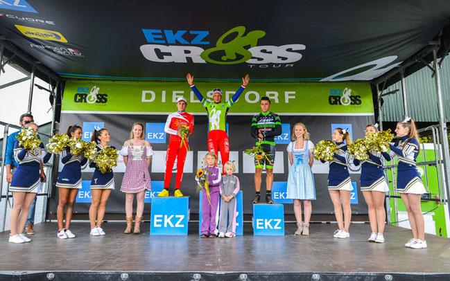 EKZ Crosstour in Dielsdorf: Siegerehrung Herren © Chris Roos