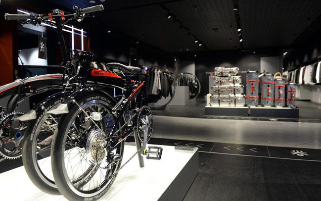 Die Tern Verge Bikes im Shop-in-Shop bei Harrods in London © Tern Bicycles Online Photo Gallery